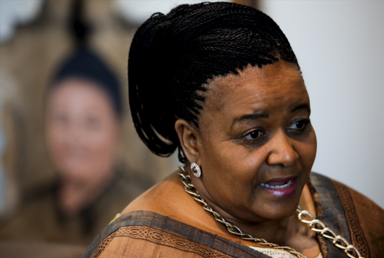 Minister of Environmental Affairs, Edna Molewa during an interview on August 14 2014 in her offices in Pretoria, South Africa