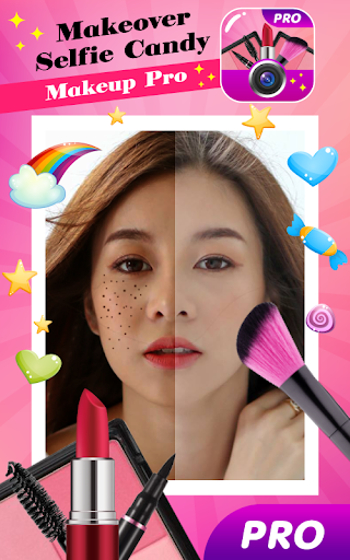 Makeover Selfie Candy Makeup Pro screenshots 1