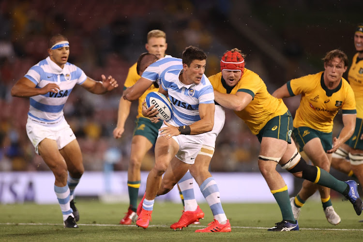 Pumas in action during the 2020 Tri-Nations match between the Australian Wallabies and the Argentina Pumas at McDonald Jones Stadium in Newcastle, Australia, November 21 2020. Picture: CAMERON SPENCER/GETTY IMAGES