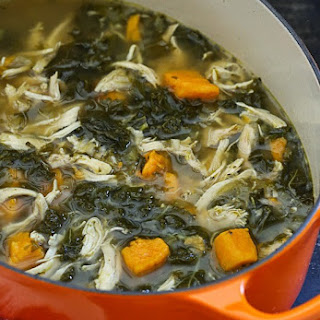 Chicken Sweet Potato and Kale Soup