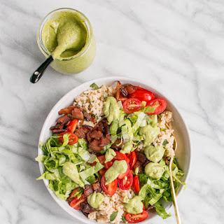 BLT Rice Bowl with Avocado Lime Dressing.