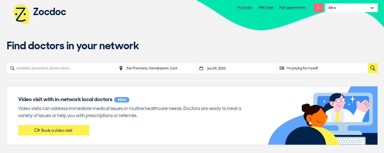 telehealth platform - zocdoc