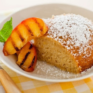 Lemon Olive Oil Cake with Grilled Nectarines.
