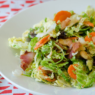 Shaved Brussel Sprout Salad with Dijon Maple Vinaigrette
