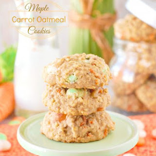 Maple Carrot Oatmeal Cookies