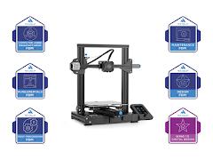 New Collar Job Skills Digital Master Badge Creality Ender 3 V2 3D Printer Bundle - Self Paced