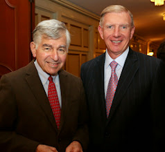 Photo: Former Governor Michael Dukakis and BBA President Paul Dacier.
