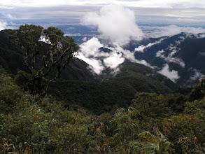 Photo: Cerro Union - the trail we work on goes down this ridge.