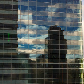 Reflection of building  by Moe Cook - Buildings & Architecture Architectural Detail ( clouds, building, sky, architectural, reflections, city )