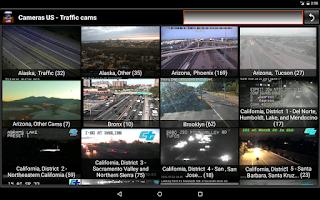 Screenshot of Cameras US - Traffic cams USA