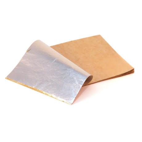 Slagaluminium silverf. 1bok 14x14cm