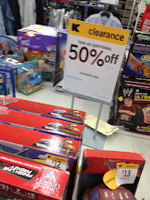 Photo: Closer to the toys department, there was multiple tables set up with clearance toys on them. They were an additional 50% off the clearance tags. We don't have any birthdays coming up for a while...and Christmas is such a long time away, that I won't be buying any toys right now.