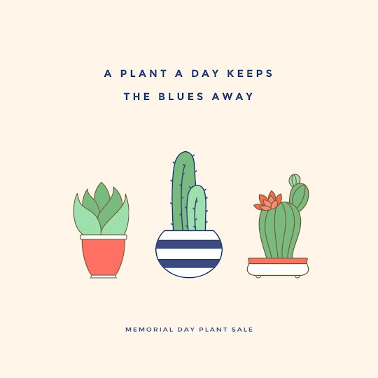 A Plant a Day - Instagram Post Template