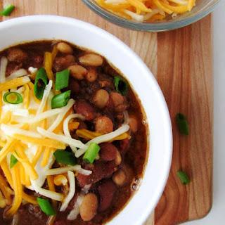 Slow Cooker Three Bean Chili.