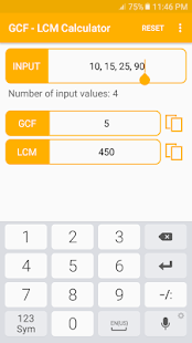 GCF - LCM Calculator - náhled
