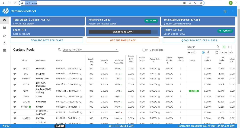 C:\Users\Sir. Charlie\Desktop\Cardano pools on PoolTool website.JPG