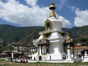 Photo: Memorial Chorten at Thimphu.