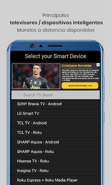 Captura de Pantalla 6 de Control remoto universal de TV para android