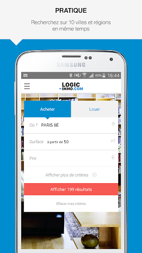 Logic-immo.com – Achat et location immobilier Android App Screenshot
