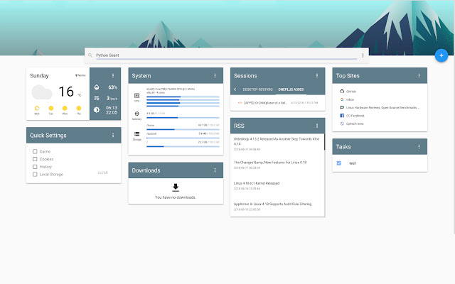 Epiboard - New Tab