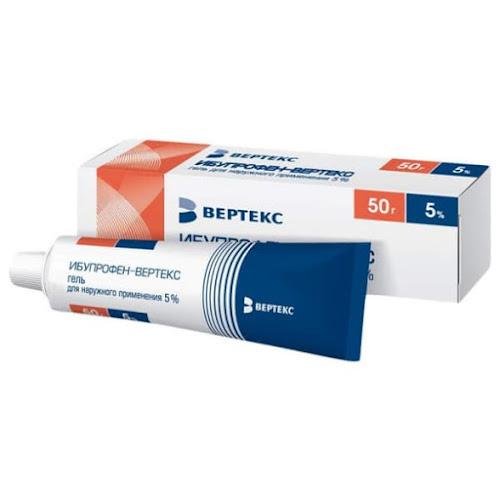 Кетопрофен-Вертекс гель 5% 50г