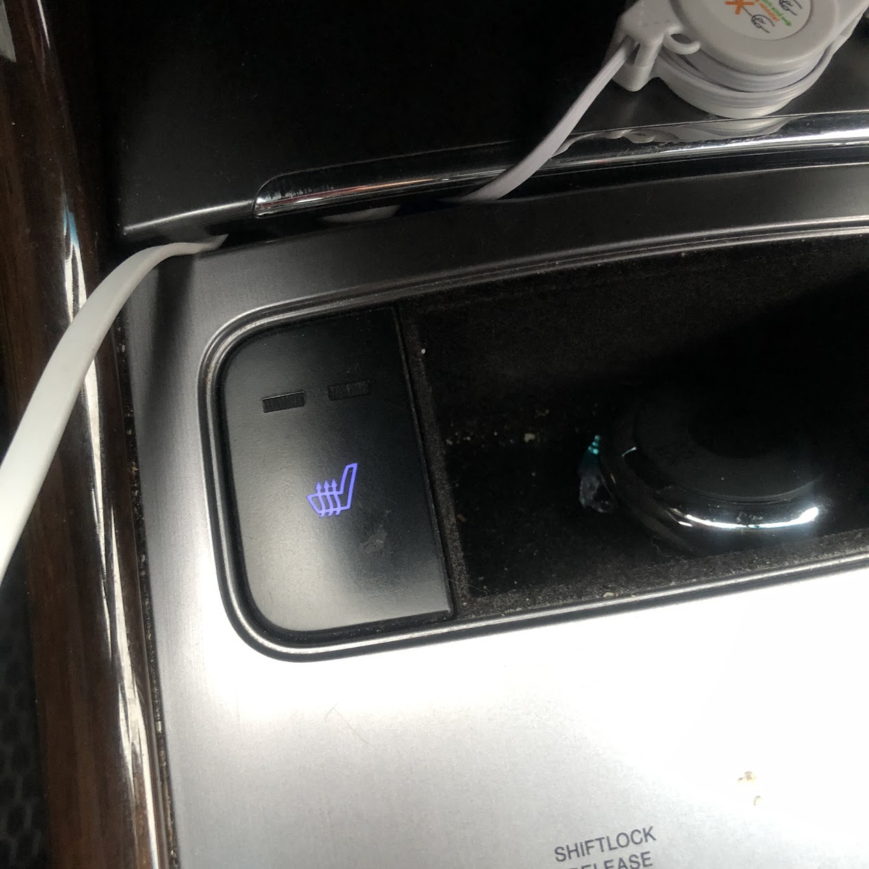 자동차 열선시트의 온도조절 버튼 메뉴디자인