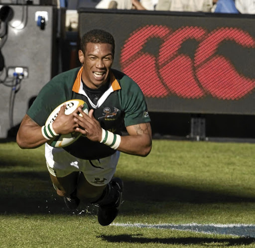 Ashwin Willemse during a rugby match in South Africa.