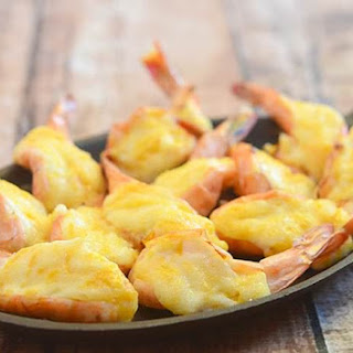 Baked Cheese Shrimp.