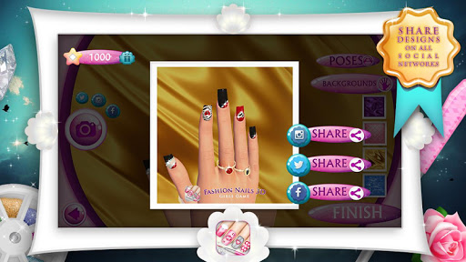Fashion Nails 3D Girls Game screenshot 5