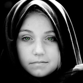 by Cindy Walker - Novices Only Portraits & People ( girl, black and white, women, closeup, , best female portraiture )