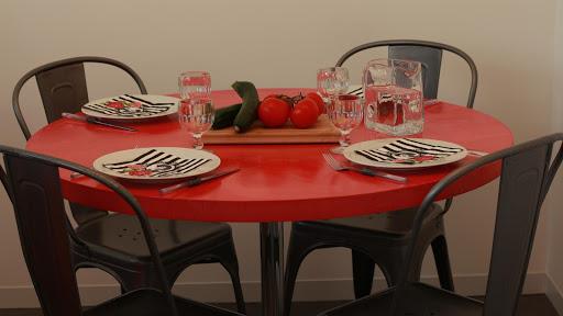 Relookez votre table de salle à manger grâce à l'enduit béton ciré coloré