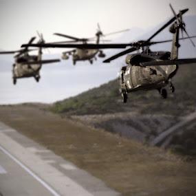 by AJ VILLAMAYOR - Transportation Airplanes ( uh-60 blackhawks )
