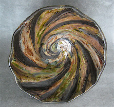 Photo: inside of large twisted bowl