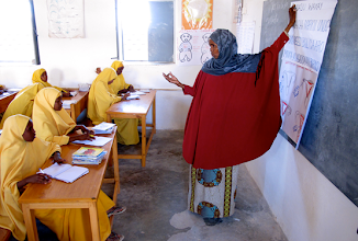 Photo: Though utterly important, female teachers come in short supply in Somalia due to various reasons. Currently, the Gender Unit of the Ministry of Education, where i am working as the Advisor, are doing research as to why this is so. We have found out that a combination of factors play a role. One school that had no female teachers argued that it didn't have any women on board as teachers because 'women often get pregnant and don't come to work'. But getting pregnant is a God-given right and should not be problematised. The school should be flexible enough to grant these women leave and realise that that is their right.