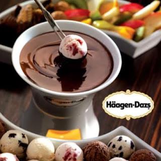 Recipe | Chocolate & Ice Cream Fondue.