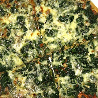 Applebee's Spinach Pizza.