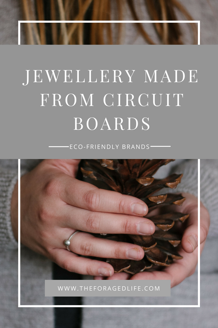 Ashley Heather Jewellery makes beautiful minimal pieces using metals reclaimed from circuit boards | Eco-Friendly Brands - The Foraged Life