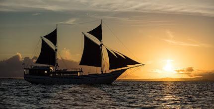 Photo: SAMAMBAIA LIVEABOARD Sailing at Sunset in Raja Ampat http://cruisingindonesia.com/liveaboards/samambaia-liveaboard-scuba-diving-indonesia ~ www.CruisingIndonesia.com ~ info@cruisingindonesia.com ~ #liveaboard #scubadiving #diving