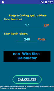 Nec wire size calculator free android apps on google play nec wire size calculator free screenshot thumbnail greentooth Choice Image
