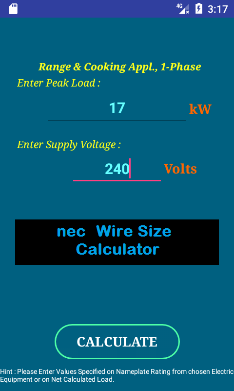 Nec wire size calculator free android apps on google play nec wire size calculator free screenshot greentooth Choice Image