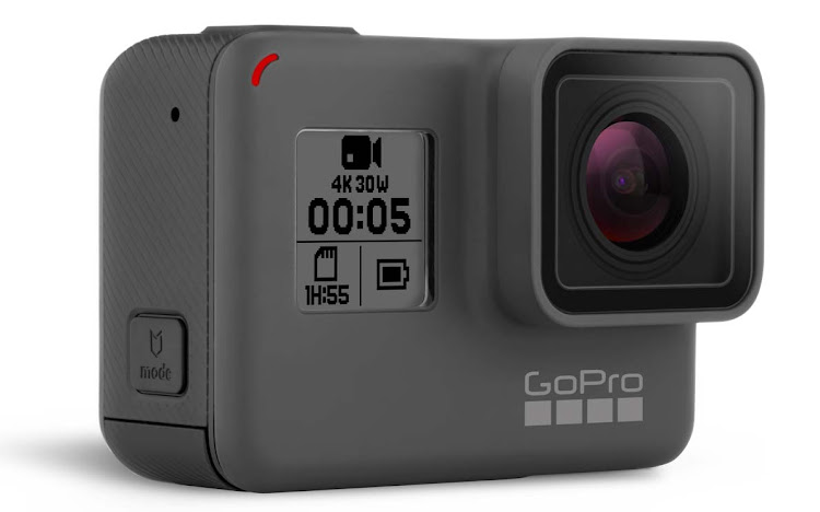 The GoPro Hero5 sports a touchscreen, a waterproof body, GPS, electronic image stabilization, stereo audio, voice control, auto cloud uploads and more. (Click to enlarge.)