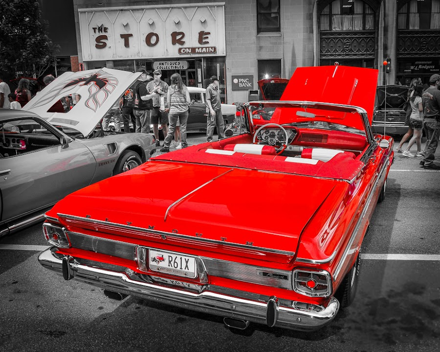 63 Plymouth by Lawrence Kelly - Transportation Automobiles ( truck, sports car, plymouth, racecar, 63, car show, hot rod, cruise, classic, World_is_RED, , automobile, automotive, car, photography, bike, exotic )