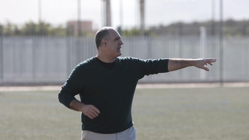 Juanfran Miras, entrenador del Poli Almería.