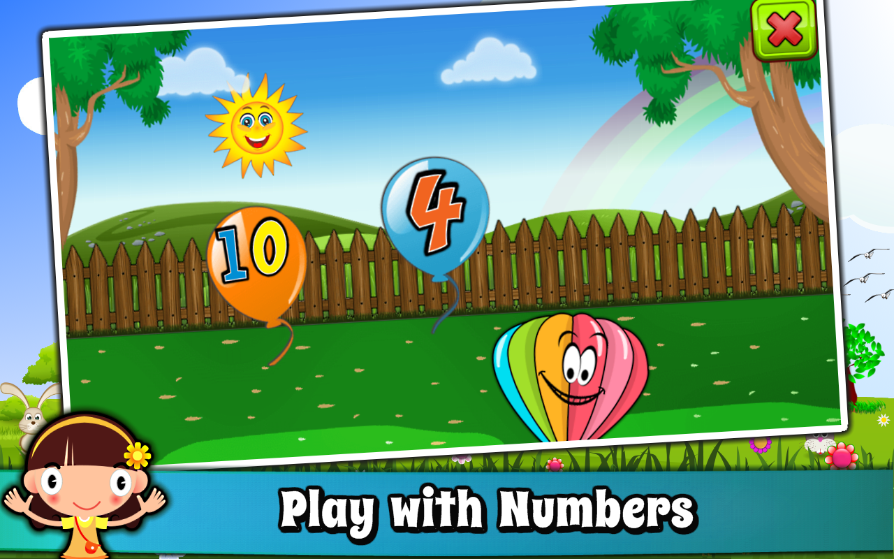 Balloon pop kids learning game free for babies android for Free balloon games