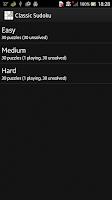 Screenshot of Classics Sudoku: Logic Puzzle