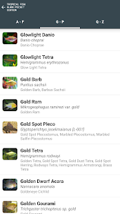 Tropical Fish Guide Pocket Edition- screenshot thumbnail