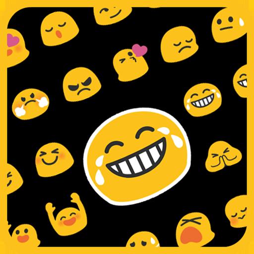 emoji keyboard-emoticons white apk free download