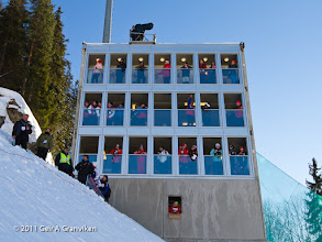 Photo: World Cup Ski flying Vikersund HS225 - The judge's tower