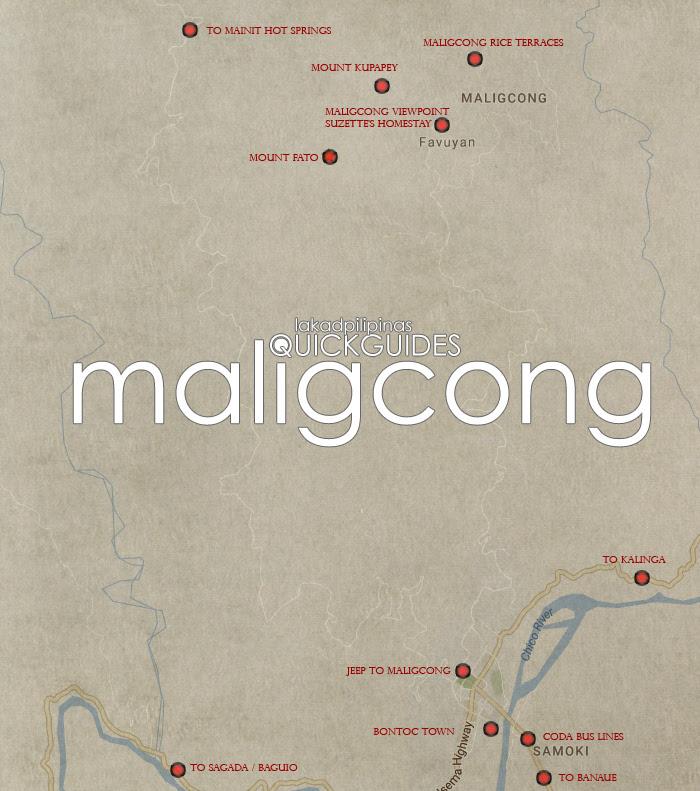 Maligcong Tourist Map