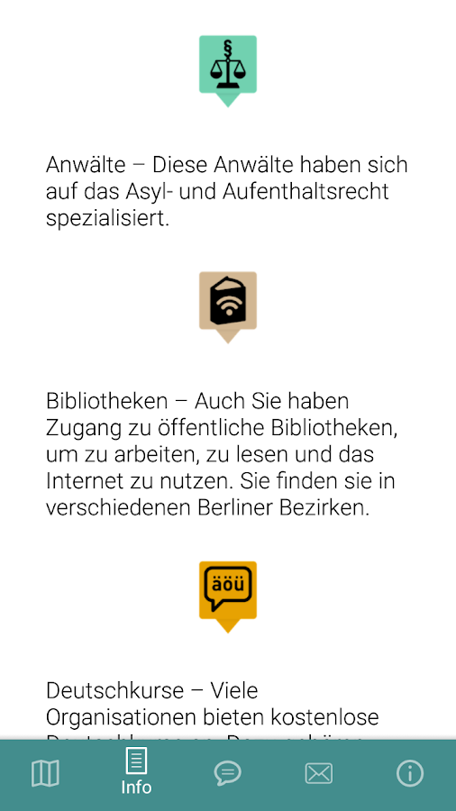 Arriving in Berlin App – Screenshot